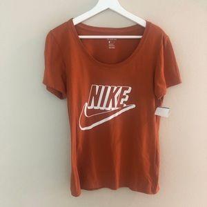 Nike womens Scoop Neck Tee small orange